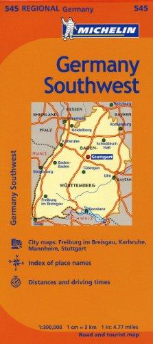 Michelin Germany Southwest Map 545 (Maps/Regional (Michelin))