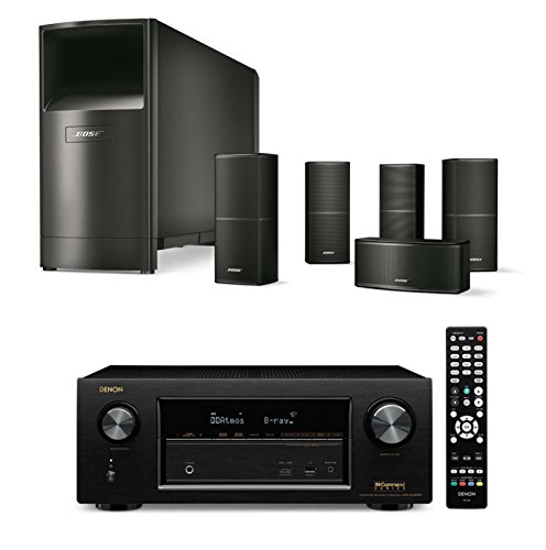 Bose-Acoustimass-10-Series-V-Compact-Wired-Home-Theater-System-Black-Bundle-with-Denon-AVR-X2300W-72-Channel-Full-4K-Ultra-HD-AV-Receiver