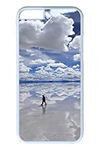6 plus Case, iPhone 6 plus Case - New Fashion Covers for iPhone 6 plus Walking On Ice Perfect Fit Hard PC Cases for iPhone 6 plus White