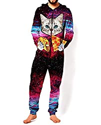 Adult Unisex 3D Printed Hoodie Pajamas Polyester Sportswear Jumpsuit Lion Wolf Cosplay Party Halloween Christmas Wear