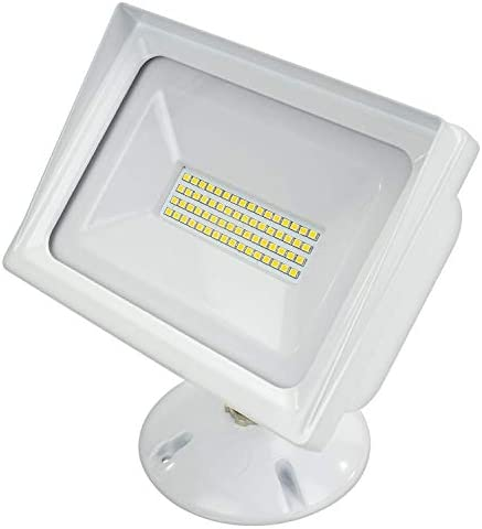 American Lighting ALV3-48WF-WH Panorama Collection Wall Pack COB Flood Light, 3000K, 48W, White