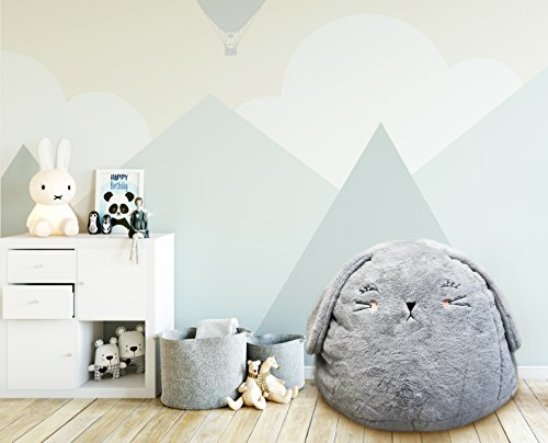 Beanbag For Kids: Soft And Comfortable Stuffed Bean Bag Chair For The Nursery, Cute Animal Design For Boys And Girls, Lux Plush Fabric, For Children Of All Ages 30'' x 30'' x 20'' (Fur Bunny) by Great Home Discounts