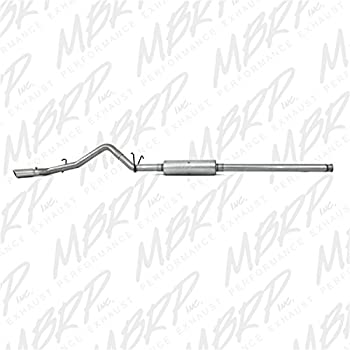 MBRP S5070AL 3 Aluminum Single Side Exit Cat Back Exhaust System