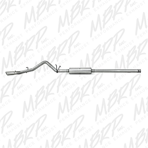 (MBRP S5054AL Cat Back, Single Side Exhaust System (Aluminized Steel) )