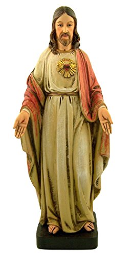 Used, Avalon Gallery Sacred Heart Jesus Christ Resin Statue, for sale  Delivered anywhere in USA