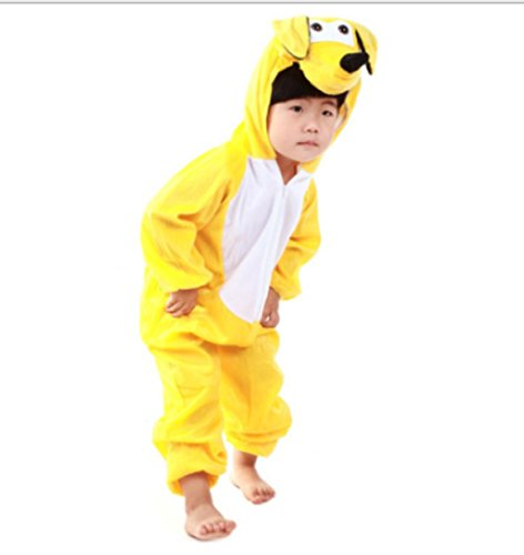 Yellow Hoodie Costume (Children Party Costume Cartoon Animal Costume funny Clothes Performance Kids Cosplay Costume (M(Height 35.4