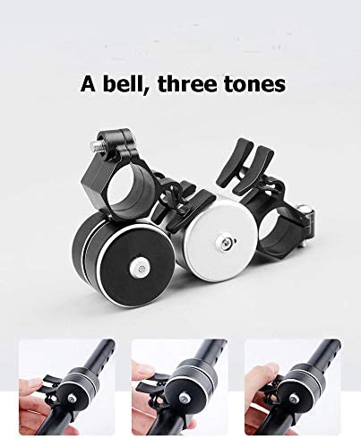 Super Loud Horn 3570MM-Aluminum Alloy Alarm Green Usa Bike Bell with Double Click 120db Bicycle Bell Outdoors Safety Black Bike Bell-for Kids Adults Boys Girls