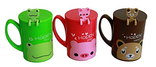NEW BPA FREE CHILDREN / kids CUP SET it come with Cup Spoon and Lid USA SELLER (RED) from Unbranded*
