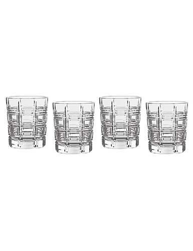 Marquis by Waterford Crosby Double Old Fashioned, Set of 4, Clear, 10 - Crystal Waterford Outlets