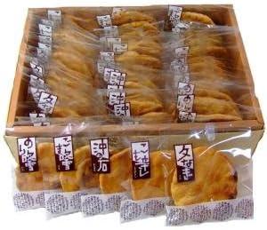 草加せんべい 1枚入り箱詰 五種45枚