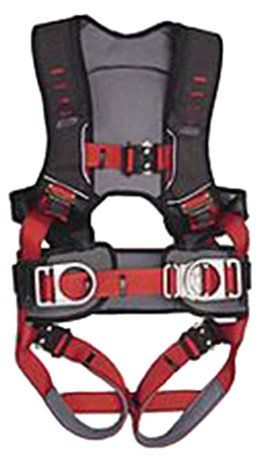 Guardian Fall Protection 182112 Basic HUV Premium Edge Series Harness with Side D-Rings, Pass-Thru Chest Buckle and Leg Tounge Buckles, XXL
