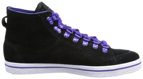 adidas Originals HONEY HOOK W - Zapatilla alta de cuero mujer negro - Schwarz (BLACK1/BLACK)
