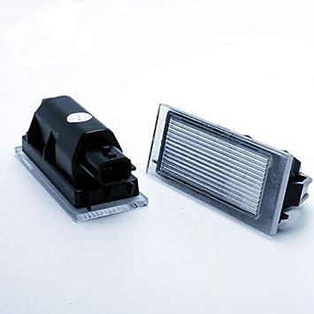 VINSTAR 2X Luces para MATRICULA LED Megane 4 IV Hatchback CANBUS: Amazon.es: Coche y moto