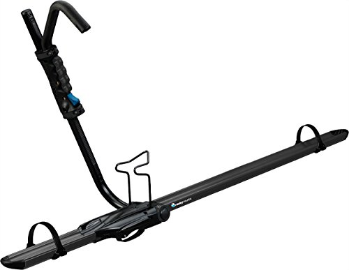 - RockyMounts BrassKnuckles upright roof bike rack