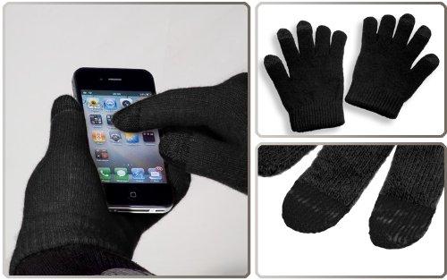 YaYago Écran tactile Gants Noir Taille universelle (env. M–L) pour Sony Xperia XZ/XZ Dual