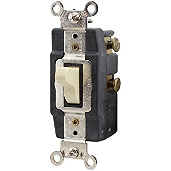 Leviton 1287 I Double Throw Center Off Toggle Switch 30a