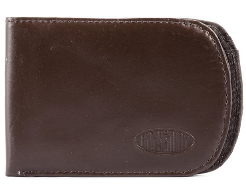 Big Skinny Men's Curve Leather Bi-Fold Slim Wallet, Holds Up to 20 Cards, Brown