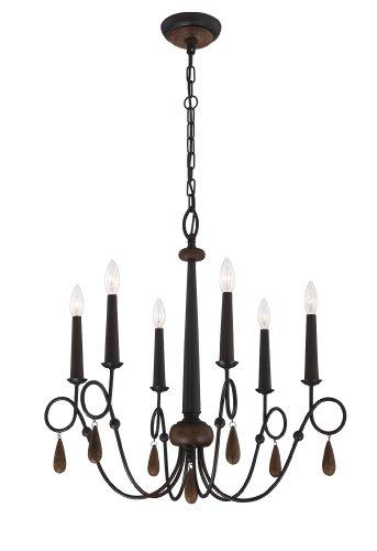 Eurofase 25591Corso candelabro, madera con hierro rústico