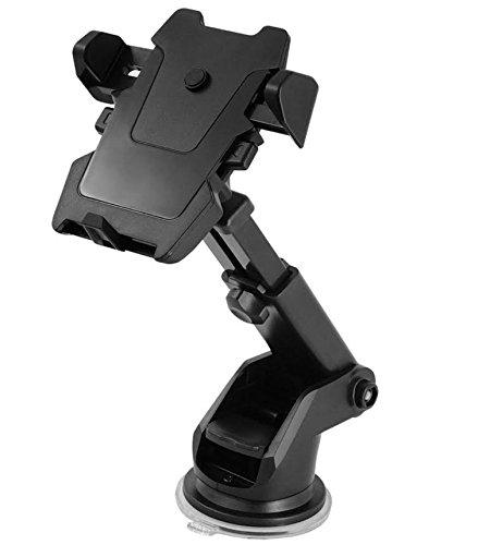 MMOBIEL Auto-Lock Universal Long Neck Car Mount Holder for Smartphones Windshield//Dashboard Grip 180 Degree Adjustable