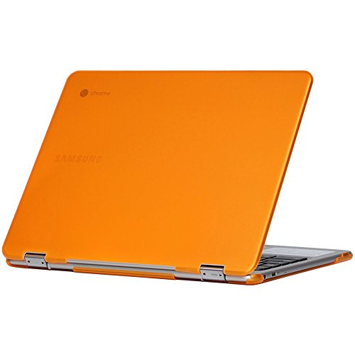 iPearl mCover Hard Shell Case for 12.3 Samsung Chromebook Plus XE513C24 Series (NOT Compatible with Older XE303C12 / XE500C12 / XE503C12 Models) Laptop - Chromebook Plus XE513C24 (Orange)