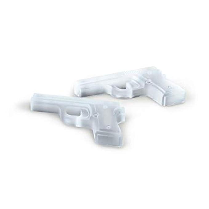 Dfghbn Reutilizable Bandeja de Hielo de Silicona de 6 Piezas con Forma de Pistola de Hielo en Forma de Pistola de Silicona (Color : Rojo): Amazon.es: Hogar