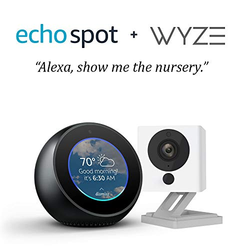 Echo Spot bundle with Wyze Cam 1080p HD Smart Camera – Black