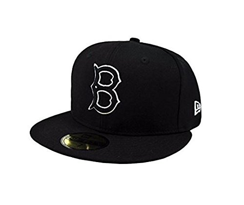 New Era 59Fifty Men's Hat Brooklyn Dodgers Black/White Fitted Headwear Cap (7 5/8)