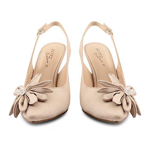 Footwear Sensation - Zapatos de vestir para mujer Beige - champán