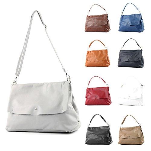 femme sac modamoda main Dunkelrot cuir cuir Italy à Made sac à in bandoulière de nappa IT40 sac Sac italien sac xYqYw6ARr