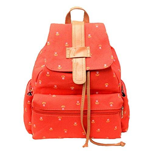 35dcc7aef066 SUPON Girls Vintage Cute Flower Floral Bags Schoolbag Travel ...