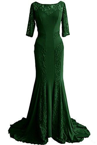 Formal Dress Women Dunkelgrun Gown MACloth Evening Half Sleeve Mother Lace Bride of Mermaid Bxqzw87T