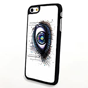 Generic Phone Accessories Matte Hard Plastic Phone Cases Blue Tone Charming Big Eye fit for Iphone 6