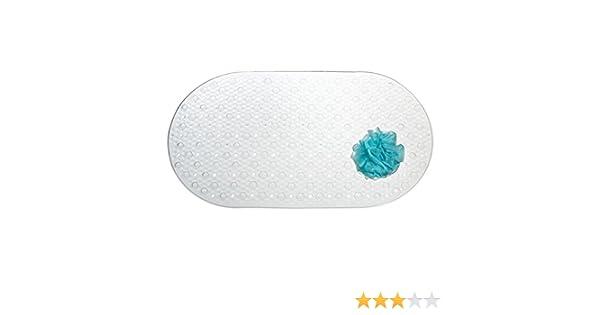 Alfombra antideslizante para colocar al lado de la ba/ñera ducha o en la cocina Medidas: 43,18 cm x 29,5 cm Alfombra para ba/ño de dise/ño mDesign Alfombra para ducha con ventosas
