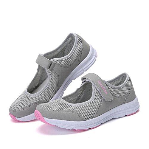 Da Sneakers Sandali Estive Scarpe Beautyjourney Ginnastica Sportive Donna Corsa Grigio Eleganti Basse Estate 54Yxq