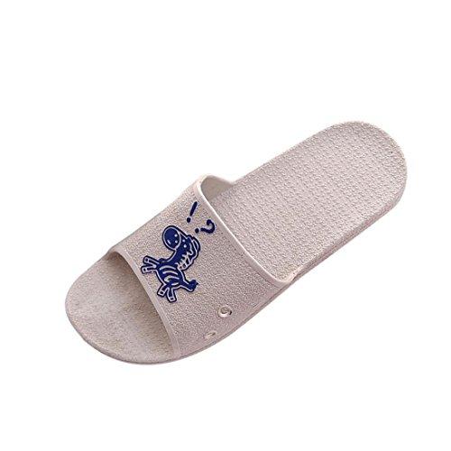 Inkach Mens Sandali Estivi - Pantofole Da Bagno Moda Infradito Sandali - Scarpe Antiscivolo Piatte Da Spiaggia Grigie
