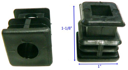 Oajen caster socket furniture insert for 5/16 x 1-1/2 stem, use with 1 OD square tube, 4-pack