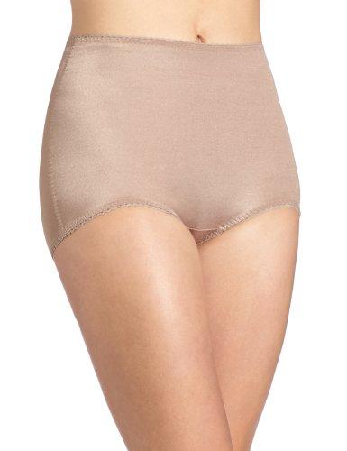 Rago Women's Plus-Size Control Panty Brief, Mocha, 3X-Large (36)