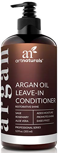ArtNaturals Argan Oil Leave-In Conditioner - 12 oz Made with Organic and Natural Ingredients - for All Hair Types - Treatment for Damaged, Dry, Color Treated and Hair Loss (Best Natural Oil For Fine Hair)
