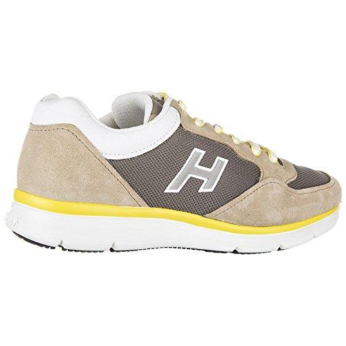 Chaussures en Flock Homme Hogan Daim Sneakers h254 T2015 h Baskets Beige wIqC8xnd