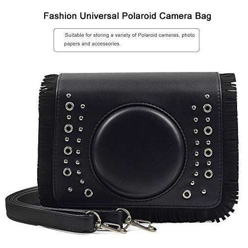Camera Case, PU Leather Bag Fashion Fringe Metal Buckle Case for Fujifilm Instax Mini 9 8 90 70 7s 25 50s Camera