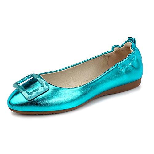 Zapatos de moda/Zapatos de tacón plano/Rollo de huevo dulce cómodo zapatos/Zapatos de arco F
