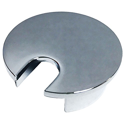 1.57'' (40mm) Metal Desk Grommet | Chrome Polish (Smaller Opening) - (3 Pack) by Electriduct