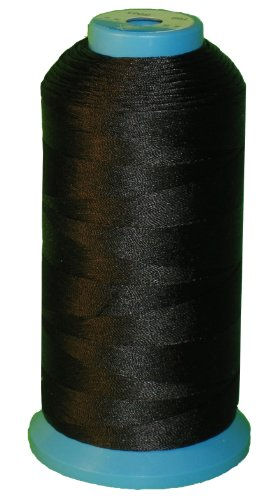 Item4ever Black Bonded Nylon Sewing Thread V-69 T70 1500 Yard for Outdoor, Upholstery