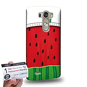 Case88 [LG G3] 3D impresa Carcasa/Funda dura para & Tarjeta de garantía - Art Hand Drawing Watermelon