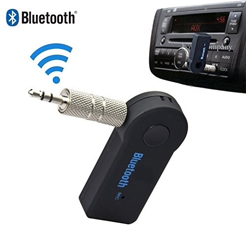 Bluetooth Receiver Car Kit Portable Wireless Audio Adapter Converter 3.5 mm Aux Auxiliary Stereo Output Bluetooth 4.0, A2DP, Built-in Microphone for Home Car Audio Music Streaming Sound System (Ipod Bluetooth Converter)