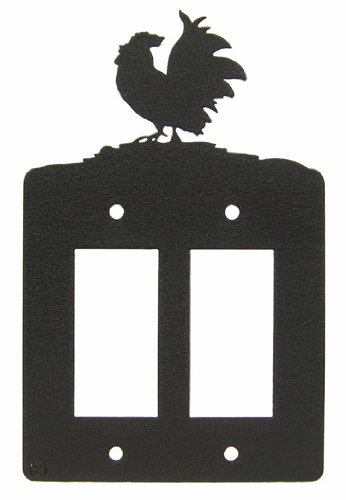 Poultry Rooster Chicken Double GFI Rocker Light Switch Plate Cover