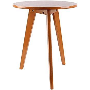 Amazoncom Convenience Concepts Wilson MidCentury Round End Table - Gus modern wilson end table
