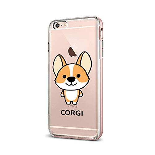 SUPERTRAMPshop Cute Dog Corgi Chihuahua Phone Case Phone Cover for iPhone Apple Phone (VAS1588, iPhone 6)