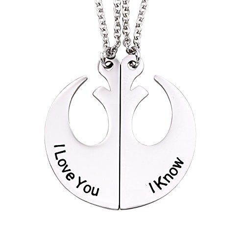 - Melix Home I Love You I Know Necklace Set Stainless Steel (White)