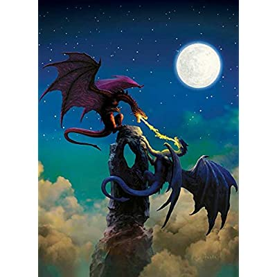 Cobble Hill Puzzles Fire Swords 1000 Piece Fantasy & Gothic Jigsaw Puzzle: Toys & Games